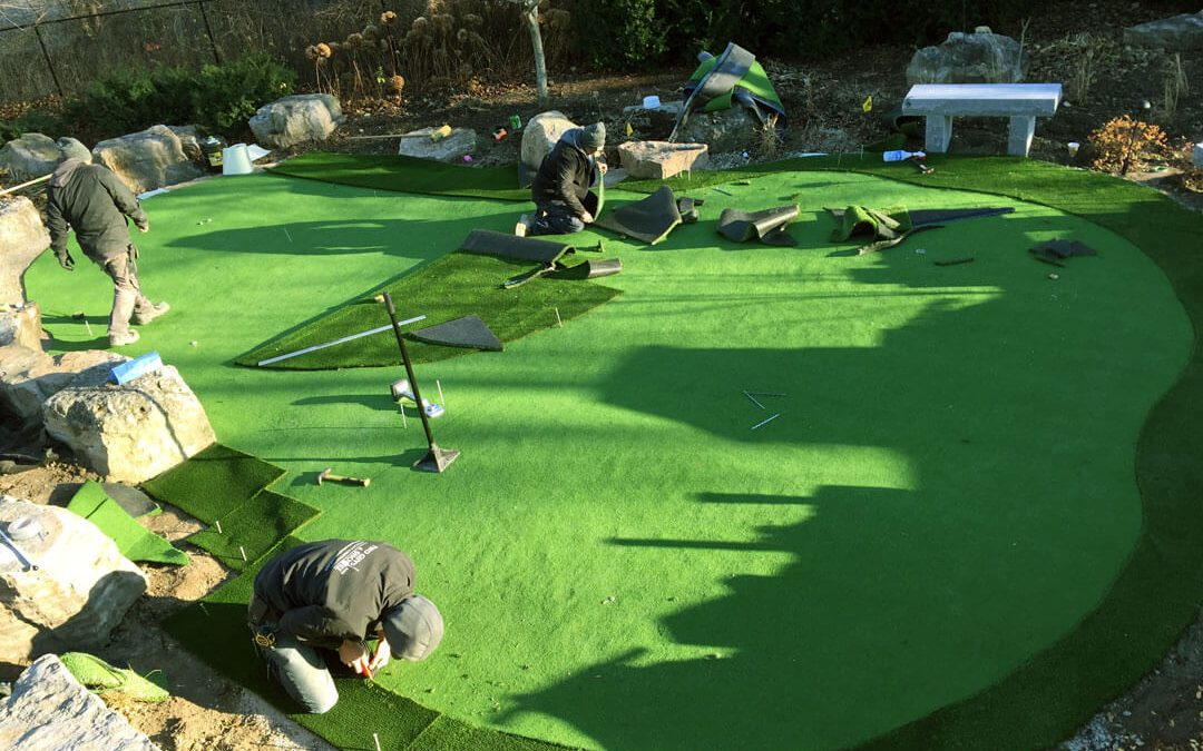 How is artificial turf installed?