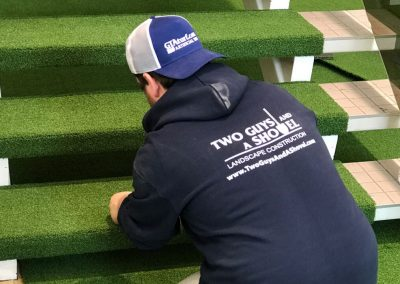 turf on stairs installation