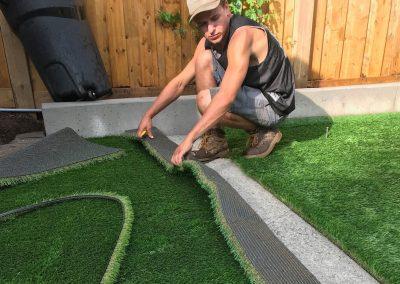 seaming turf
